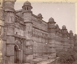 Exterior view of the Man Mandir Palace from the south, Gwalior 10031433